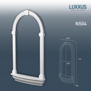 Nische Rahmen Orac Decor N504 LUXXUS für Einbau Stuck Wand aus leichtem stabilem Hartschaum | 113 cm
