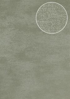 Ton-in-Ton Tapete Atlas SIG-587-5 Vliestapete glatt mit abstraktem Muster schimmernd grau grün-grau 5, 33 m2