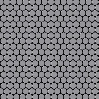 Mosaik Fliese massiv Metall Edelstahl matt in grau 1, 6mm stark ALLOY Penny-S-S-MA 0, 88 m2