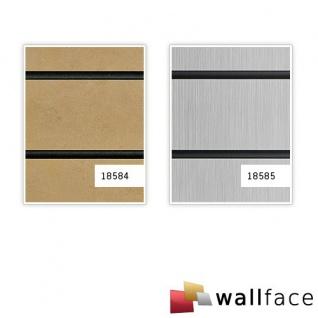 Selbstklebendes Wandpaneel abriebfest WallFace 18585 RIGATO gebürstete Metalloptik Querstreifen silber schwarz 2, 6 qm - Vorschau 4