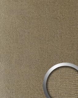 Wandpaneel Leder Blickfang Dekor WallFace 16452 LEGUAN Design selbstklebende Tapete Wandverkleidung hell-braun | 2, 60 qm