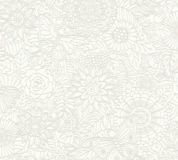 Ethno Tapete Profhome 358161-GU Vliestapete glatt im Ethno-Stil matt weiß 5, 33 m2
