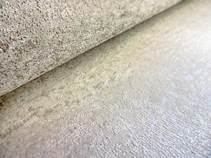 Ton-in-Ton Tapete ATLAS HER-5131-3 Vliestapete strukturiert im Shabby Chic Stil glänzend weiß perl-weiß 7, 035 m2 - Vorschau 3