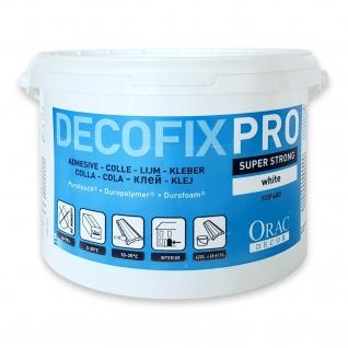 Montagekleber für Zierleisten Leisten und Paneele Orac Decor FDP600 Acryl Kleber DecoFix Pro Eimer 4, 2 l / 6, 4 kg