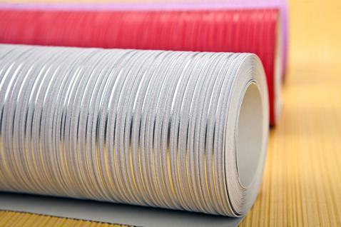 Uni-Tapete EDEM 598-21 Geprägte Tapete strukturiert mit Streifen matt safran-gelb ginster-gelb 5, 33 m2 - Vorschau 4
