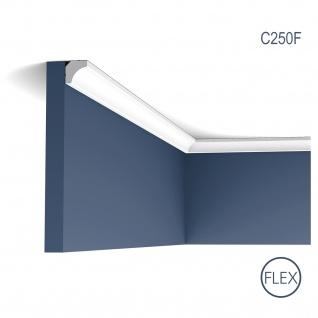 Eckleiste Orac Decor C250F LUXXUS flexible Leiste Zierleiste Decken Stuck Dekor Profil Gesims Dekorleiste 2 Meter