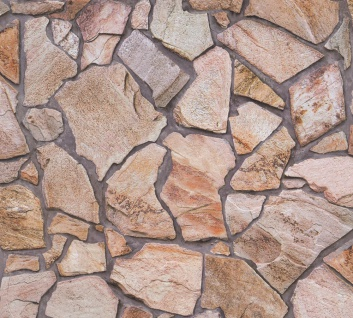 Stein Kacheln Tapete Profhome 927316-GU Vliestapete glatt in Steinoptik matt braun beige 5, 33 m2