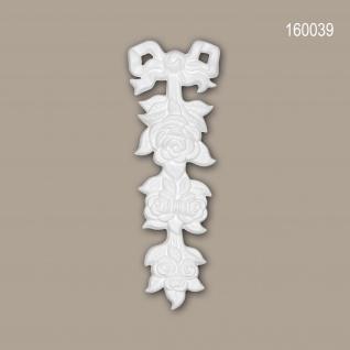 Zierelement PROFHOME 160039 Rokoko Barock Stil weiß