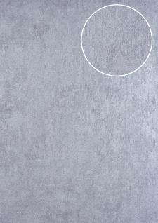 Uni Tapete ATLAS HER-5141-3 Vliestapete strukturiert mit Struktur schimmernd silber perl-hell-grau 7, 035 m2