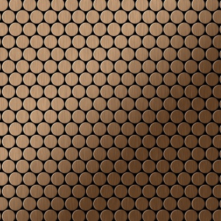 Mosaik Fliese massiv Metall Titan gebürstet in kupfer 1, 6mm stark ALLOY Penny-Ti-AB 0, 88 m2