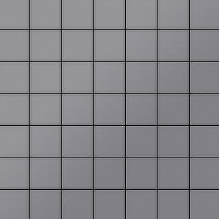 Mosaik Fliese massiv Metall Edelstahl matt in grau 1, 6mm stark ALLOY Attica-S-S-MA 0, 85 m2