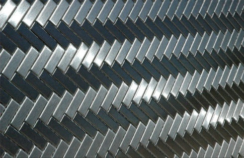 Mosaik Fliese massiv Metall Edelstahl gebürstet in grau 1, 6mm stark ALLOY Herringbone-S-S-B 0, 85 m2 - Vorschau 5