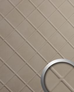 Dekorpaneel Leder Optik WallFace 19545 CORD Stony Ground Wandverkleidung geprägt in Nappaleder Optik matt selbstklebend beige 2, 6 m2