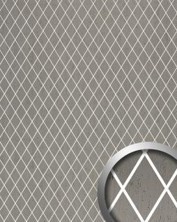 Wandpaneel selbstklebend WallFace 18607 TL LINEA Wandverkleidung lichtdurchlässig Rombo Mosaik Dekor platin grau 2, 60 qm
