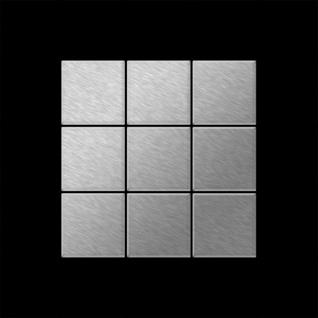 Mosaik Fliese massiv Metall Edelstahl gebürstet in grau 1, 6mm stark ALLOY Century-S-S-B 0, 5 m2 - Vorschau 3