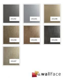 Wandpaneel Metalloptik WallFace 20198 METALLIC USED Champagne AR Wandverkleidung glatt im Used Look und mit metallischen Akzenten selbstklebend abriebfest grau grau-beige 2, 6 m2 - Vorschau 3