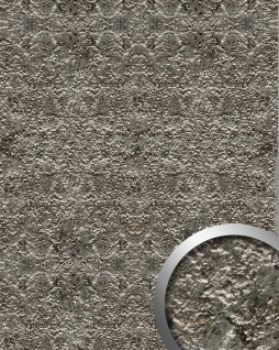 Wandpaneel Stein Optik WallFace 14804 LAVA Design selbstklebend stein-grau silber | 2, 60 qm