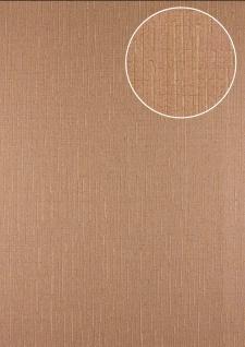 Grafik Tapete Atlas 24C-5057-8 Vliestapete strukturiert mit abstraktem Muster und Metallic Effekt braun beige-braun kupfer 7, 035 m2