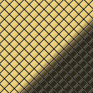 Mosaik Fliese massiv Metall Messing gewalzt in gold 1, 6mm stark ALLOY Diamond-BM 0, 91 m2