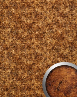 Wandplatte selbstklebend Leder Dekor WallFace 17271 VINTAGE Wandpaneel Vintage Look Design kupfer braun 2, 60 qm