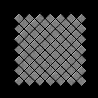 Mosaik Fliese massiv Metall Edelstahl marine gebürstet in grau 1, 6mm stark ALLOY Diamond-S-S-MB 0, 91 m2 - Vorschau 3