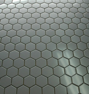 Mosaik Fliese massiv Metall Edelstahl matt in grau 1, 6mm stark ALLOY Honey-S-S-MA 0, 92 m2 - Vorschau 5