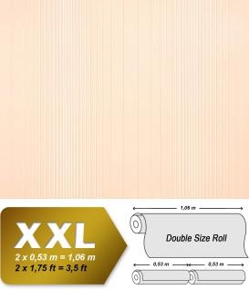 Streifen Tapete XXL Vliestapete EDEM 934-33 Hochwertige heißgeprägte Struktur Metallic Effekt creme beige zartrosa metallic 10, 65 m2