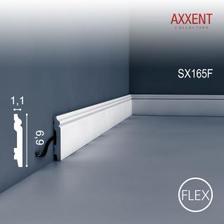 Sockelleiste Fußleiste von Orac Decor SX165F AXXENT flexible Profilleiste Wand Boden Leiste Kabelschutz Funktion 2 Meter