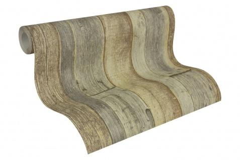 Holz Tapete Profhome 959313-GU Vliestapete glatt in Holzoptik matt grau weiß beige 5, 33 m2 - Vorschau 2