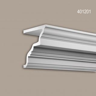 Eckleiste 401201 Profhome Fassadenprofil Zierleiste Stuckleiste Neo-Klassizismus-Stil weiß 2 m