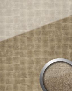 Wandverkleidung abriebfest selbstklebend bronze grau WallFace 17841 LUXURY Wandpaneel Glas-Optik Cubes-Muster 2, 60 qm