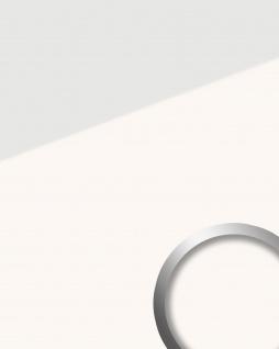 Wandpaneel Glas-Optik WallFace 17941 UNI ICE WHITE Wandverkleidung selbstklebend weiß 2, 60 qm