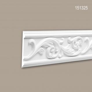 Wand- und Friesleiste PROFHOME 151325 Stuckleiste Zierleiste Wandleiste Rokoko Barock Stil weiß 2 m