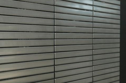Mosaik Fliese massiv Metall Edelstahl matt in grau 1, 6mm stark ALLOY Linear-S-S-MA 0, 94 m2 - Vorschau 4