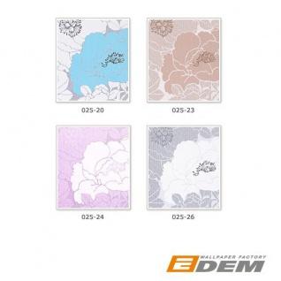 Blumen Tapete EDEM 025-23 Blumentapete Designer Floral harmonische Farbkombination beige perlweiß kakao-braun bronze - Vorschau 3