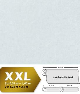 Uni Tapete XXL Vliestapete EDEM 903-17 Geprägte Struktur Textiloptik Unitapete Pastellfarben blau hellblau 10, 65 m2