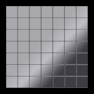 Mosaik Fliese massiv Metall Edelstahl hochglänzend in grau 1, 6mm stark ALLOY Attica-S-S-M 0, 85 m2 - Vorschau 3