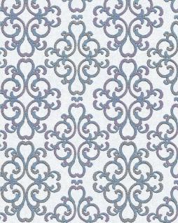 Barock Tapete EDEM 85037BR30 Tapete strukturiert mit Ornamenten glänzend weiß türkis-blau lila silber 5, 33 m2
