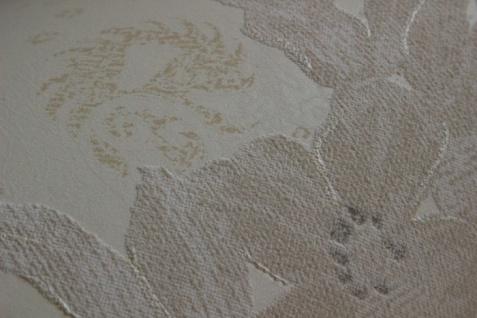 Blumen Tapete Atlas TEM-5109-1 Vliestapete strukturiert mit Paisley Muster schimmernd creme perl-weiß hell-elfenbein grau-beige 7, 035 m2 - Vorschau 3