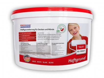 Haftgrund PROFHOME Decken Wand-Grundierung Tapetengrund für Renoviervlies Malervlies Tapeten weiß 12, 5 L für 83 - 104 qm