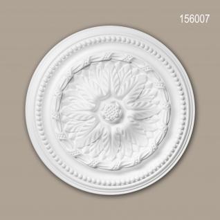 Rosette PROFHOME 156007 Deckenelement Zierelement Neo-Empire-Stil weiß Ø 40 cm