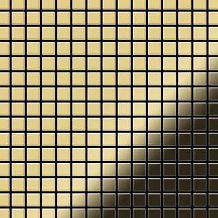 Mosaik Fliese massiv Metall Messing gewalzt in gold 1, 6mm stark ALLOY Mosaic-BM 1, 04 m2