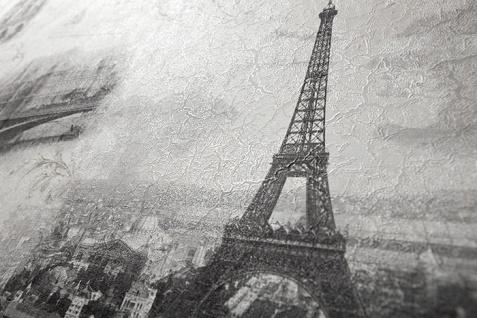 Romantische Tapete EDEM 9050-10 Vliestapete geprägt im Shabby Chic Stil Paris Eiffelturm Notre Dame schimmernd weiß grau anthrazit 10, 65 m2 - Vorschau 4
