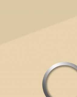 Wandpaneel Glas-Optik WallFace 17965 UNI MALAGA Wandverkleidung abriebfest selbstklebend beige hellbraun creme 2, 60 qm