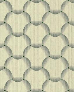 Retro Tapete EDEM 1035-15 Vinyltapete strukturiert mit grafischem Muster glitzernd grün creme-weiß 5, 33 m2