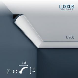 Eckleiste Orac Decor C260 LUXXUS Zierleiste Stuck Zierleiste Decken Stuckgesims Wand Dekor Profil Dekorleiste | 2 Meter
