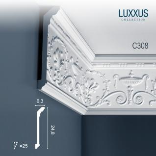 Dekor Profil Orac Decor C308 LUXXUS Stuckleiste Eckleiste Zierleiste Decken Wand Friesleiste Stuck Gesims 2 Meter