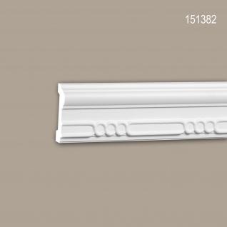 Wand- und Friesleiste PROFHOME 151382 Stuckleiste Zierleiste Friesleiste Neo-Empire-Stil weiß 2 m