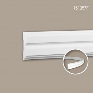 Wand- und Friesleiste PROFHOME 151357F Stuckleiste Flexible Leiste Zierleiste Neo-Klassizismus-Stil weiß 2 m