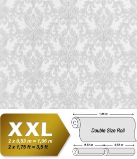 3D Barock-Tapete Vliestapete XXL EDEM 696-96 Tapete klassischer Stil mit Schnörkeln hell grau | 10, 65 qm